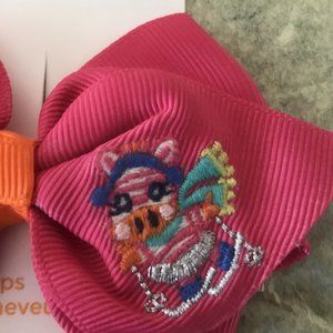 NWT gymboree color happy hair barrette pink ZEBRA